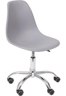 Cadeira Dkr Com Rodízios Cinza