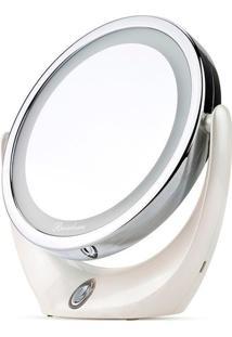 Espelho Maquiagem Makeup Led Ampliação 5X Rotação 360 Graus Carregamento Usb