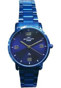 Relógio Feminino Backer Analógico 10269113F-Az - A - Unissex-Azul