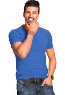 Camiseta Tony Menswear Gola V Azul