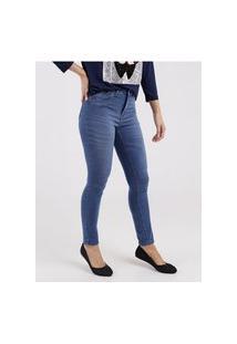 Calça Jeans Cigarrete Feminina Azul