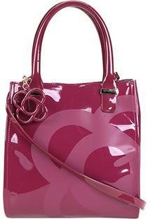 Bolsa Petite Jolie Handbag Folder Feminina - Feminino-Vinho