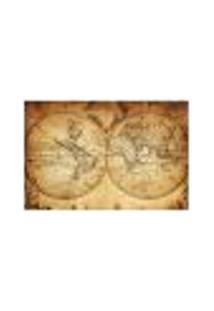 Painel Adesivo De Parede - Mapa Mundi Vintage - 281Pn-G