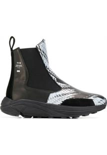 Stone Island Shadow Project Printed Ankle Boots - Preto