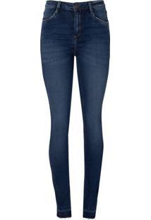 Calca Jeans Cigarrete D C S Abertura Bar (Jeans Escuro, 36)