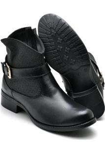 Bota Montaria Country Top Franca Shoes Feminina - Feminino-Preto
