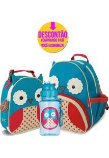 Kit Escolar Mochila De Costas Skip Hop 210204Otis Coruja