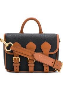Acne Studios & Mulberry Scotchgrain Messenger Bag - Preto