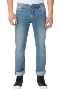 Calça Calvin Klein Jeans Five Pockets Straight Azul Claro - 46