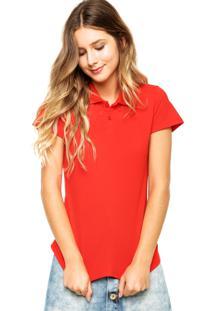 ... Camisa Polo Manga Curta Malwee Lisa Vermelha 99155fd643bcb