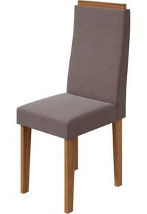 Cadeira Dafne Velvet Rosê Rovere Naturale