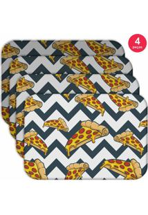 Jogo Americano Love Decor Wevans Pizza Geometric Kit Com 4 Pçs