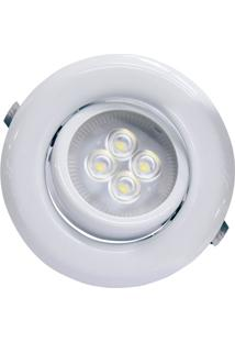 Spot Led De Embutir Redondo Sp 14 6W Autovolt 6500K Luz Branca
