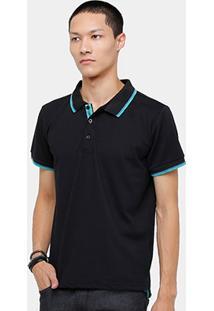 Camisa Polo Blue Bay Piquet Frisos Masculina - Masculino