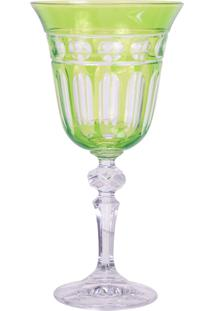 Taça De Cristal Lodz Para Vinho De 220 Ml – Verde Oliva
