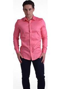 Camisa Horus Social Slim - Masculino-Rosa