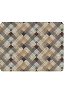 Tapete Multi Color Squares- Marrom & Bege- 125X90Cm