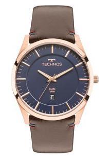 e8b056a069ee1 ... Relógio Technos Masculino Slim Gm10Yh 2A Gm10Yh 2A