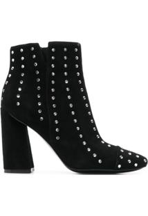 Kendall+Kylie Ankle Boot De Couro - Preto