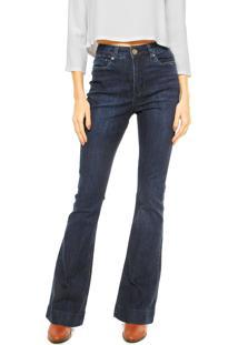 2f9bcb48e ... Calça Jeans Animale Super Flare Bainha Larga Azul
