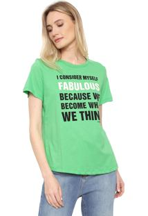Camiseta Forum Lettering Verde