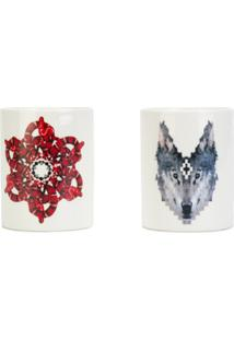 Marcelo Burlon County Of Milan Marcelo Burlon X Seletti Candle Kit Wolf/Snake - Branco