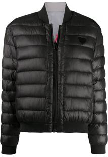 Love Moschino Logo Patch Puffer Jacket - Preto