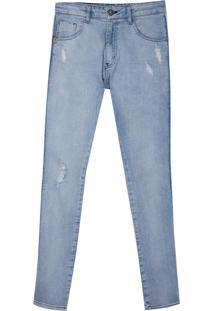 Calça John John Skinny Bulgaria Jeans Azul Masulina (Jeans Claro, 46)