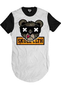 Camiseta Longline Bear Skull Clothing Masculina - Masculino