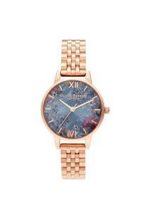 Relógio Olivia Burton Feminino Aço Rosé - Ob16Us25