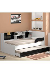 Bicama Com Estante 0740 - Multimóveis Branco/Preto