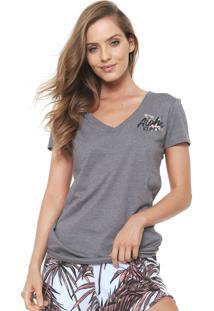 Camiseta Hurley Aloha Vibes Cinza