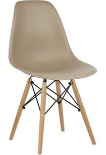 Cadeira Eiffel Charles Eames Nude Com Base De Madeira Dsw
