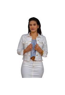 Jaqueta Faro Jeans Desfiada Off White