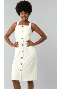 Vestido Malha Stretto Twist Branco