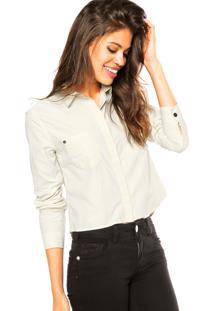 Camisa Manga Longa Calvin Klein Jeans Bolsos Bege
