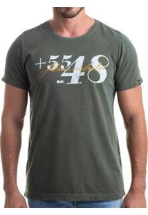 Camiseta Clothis Area Code Masculina - Masculino-Verde Militar