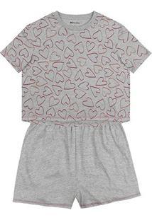 Pijama Hering Curto Feminino - Feminino