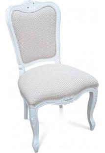 Cadeira Luis Xiv Lisa Em Madeira Com Pinturas E Tecidos Personalizáveis
