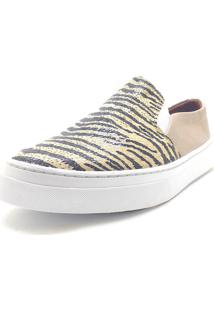 Slip On Animal Print Dani K Bege - Kanui