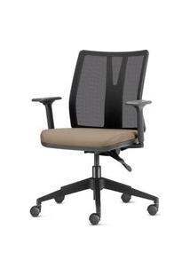 Cadeira Addit Assento Crepe Bege Com Base Piramidal Em Nylon - 54116 Bege