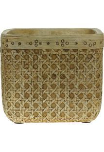 Vaso Decorativo De Cimento Palha Kyte