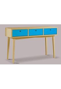 Aparador Vintage Acab. Amendoa Laca Azul - 17124 - Sun House