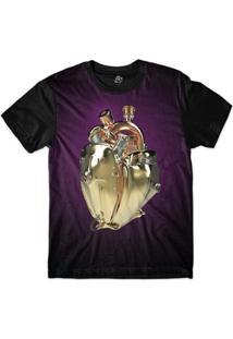 Camiseta Bsc Coração De Máquina Motor Sublimada - Masculino-Roxo