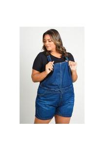 Macaquinho Jeans Com Bolso Plus Size Jeans Blue Macaquinho Jeans Com Bolso Plus Size Jeans Blue 54 Kaue Plus Size