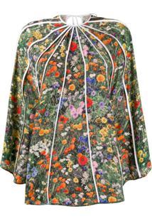 Stella Mccartney Blusa Assimétrica Com Estampa Floral - Verde