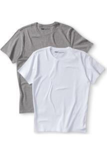 Camiseta 2 Pack Crew Levis 2 Peças - Masculino-Branco+Cinza