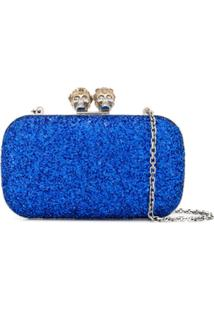 Alexander Mcqueen Clutch Queen King - Azul