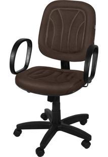 Cadeira Diretor Base Giratã³Ria Gã¡S C/ Braã§Os Corsa Relax Lacoste Choco Giobel Marrom - Marrom - Dafiti