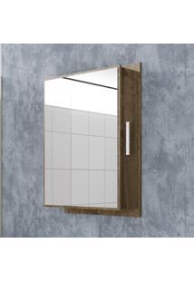 Armário P Banheiro Napoli Compartimento Lateral Madeira Rústica - Bechara Móveis